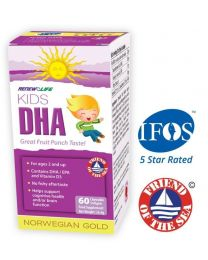 Renew Life Norwegian Gold Kids DHA - 60 Softgels