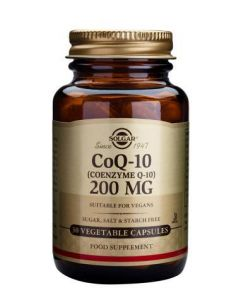 Solgar Coenzyme Q-10 200 Mg - 30 Vegetable Capsules