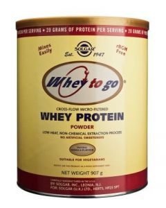 Solgar Whey To Go Whey Protein Powder Natural Vanilla Flavour - 907g Powder