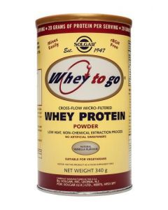 Solgar Whey To Go Whey Protein Powder Natural Vanilla Flavour - 340g Powder