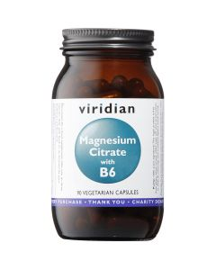 Viridian Magnesium Citrate With B6 - 90 Vegetable Capsules