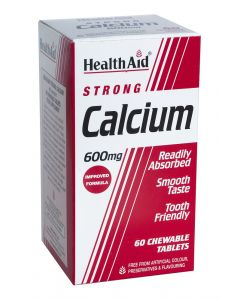 Health Aid Calcium 600Mg - Chewable - 60 Tablets
