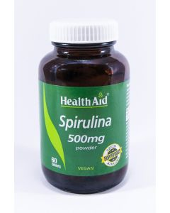 Health Aid Spirulina 500Mg  - 60 Tablets
