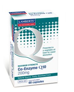 Lamberts Co-Enzyme Q10 200Mg - 60 Capsules