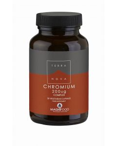 Terranova Chromium 200Ug Complex - 50 Vegetable Capsules