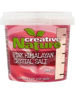 Creative Nature Pink Crystal Salt Fine Grade (Himalayan) - 300g Pack