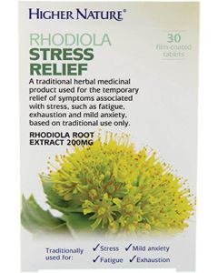 Higher Nature Rhodiola Stress Relief - 30 Tablets